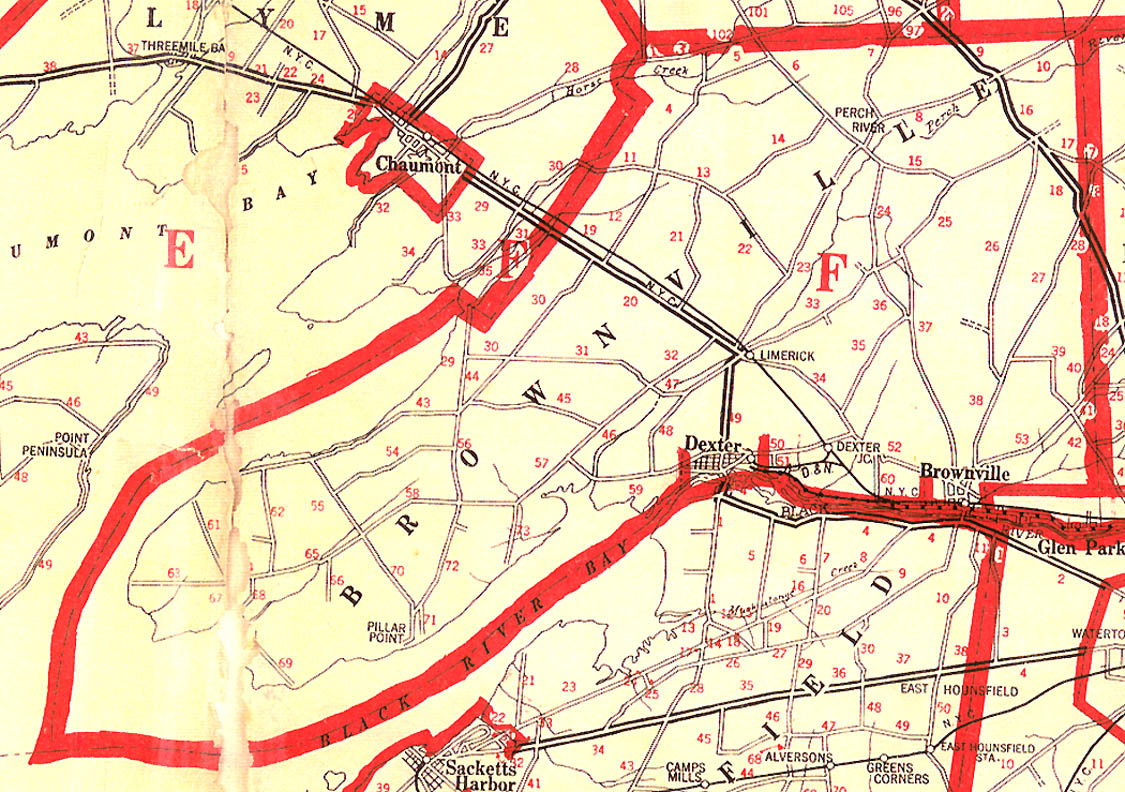 1918 Brownville Map