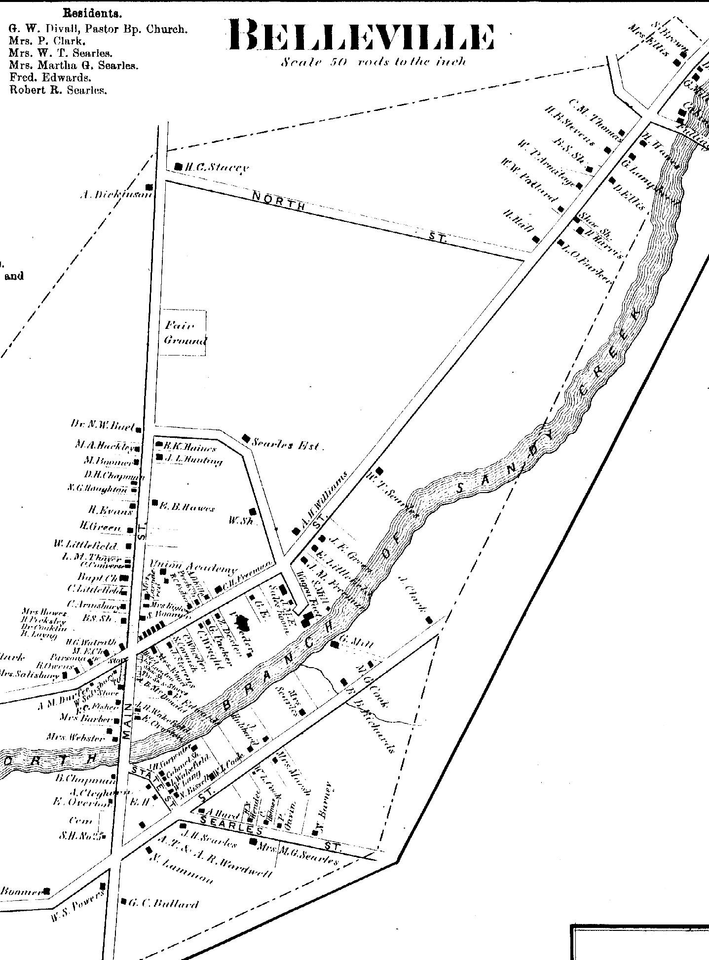 1864 map of Belleville