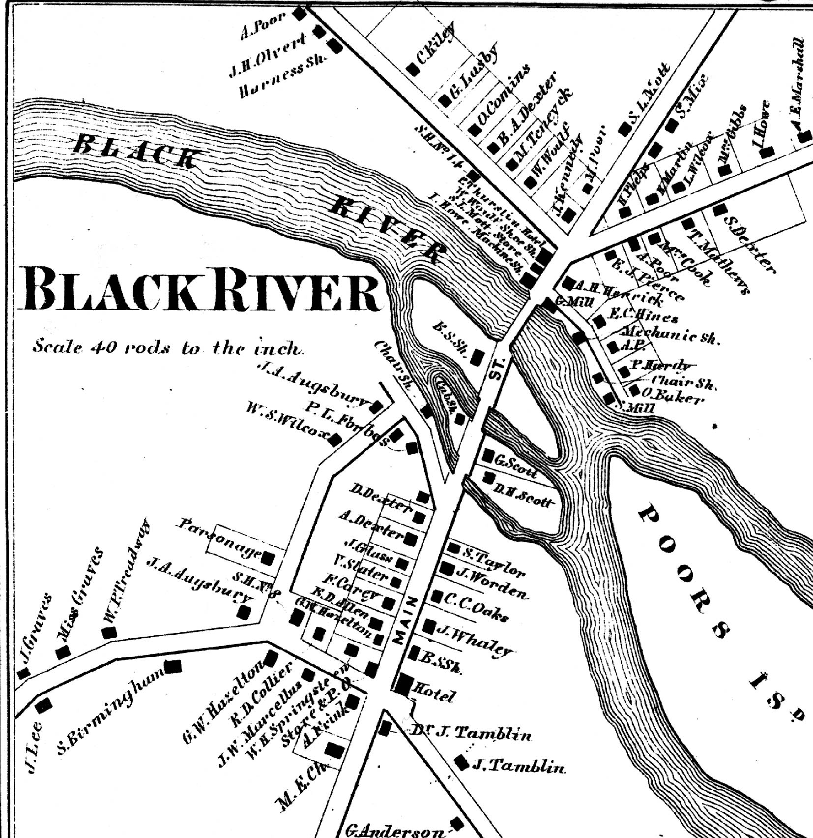 1964 Map of Black River