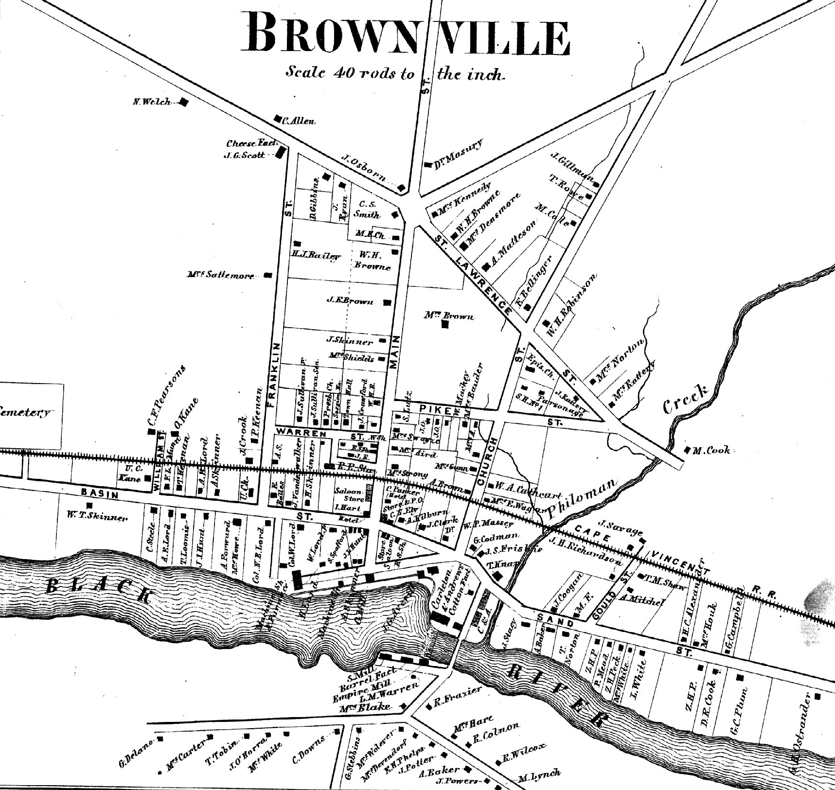 1864 Map of Brownville