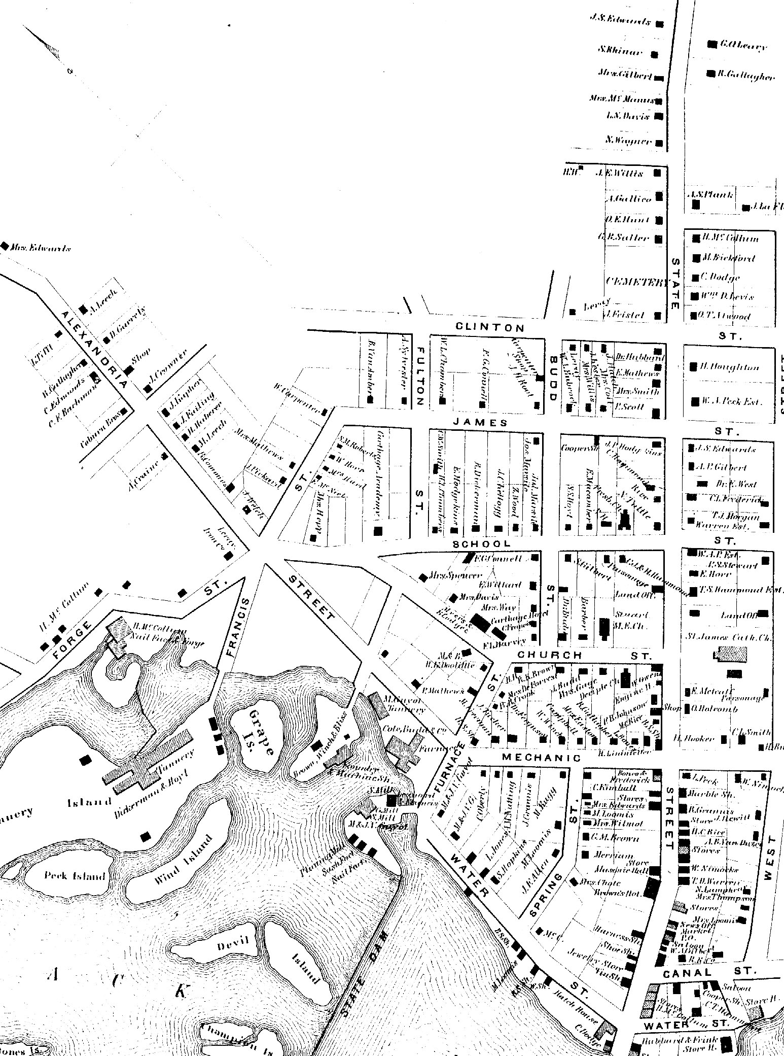 1864 Map of Carthage