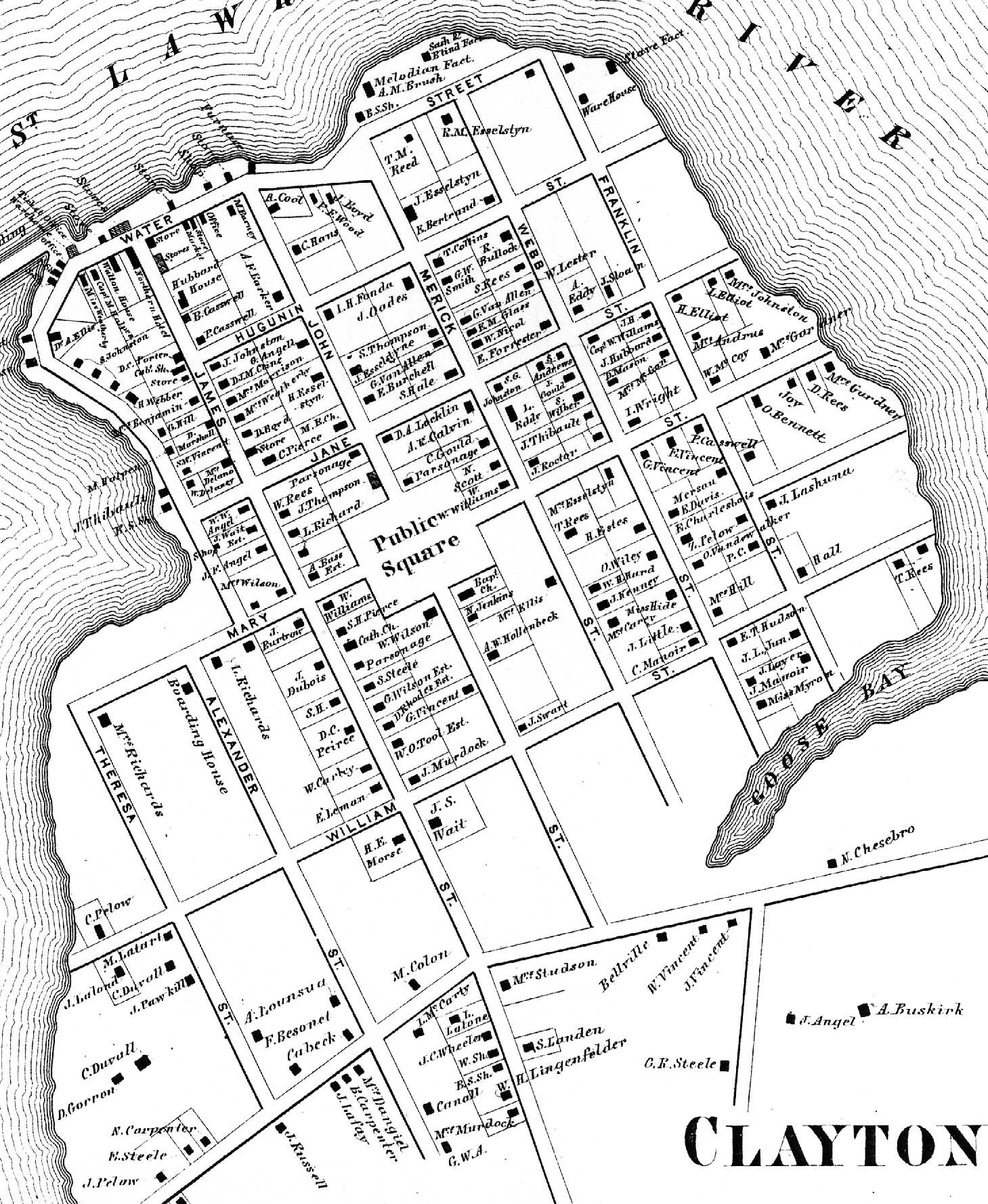 1864 Map of Clayton