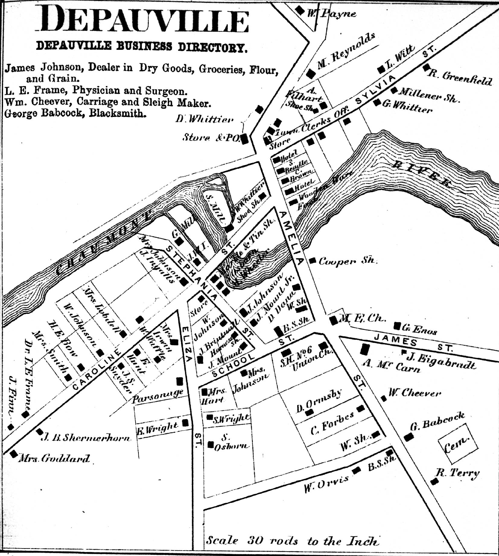 1864 Map of Depauville