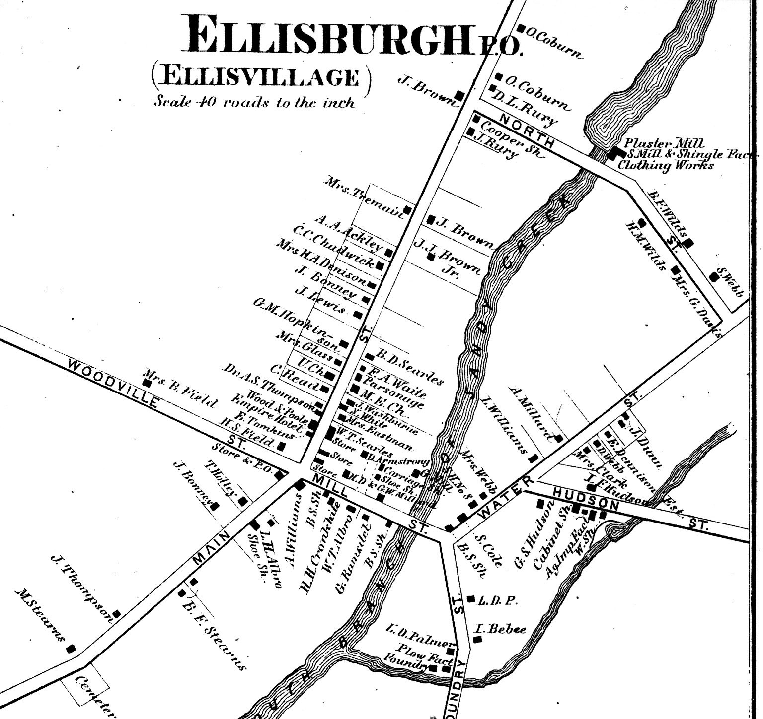 1864 Map of Ellisburg