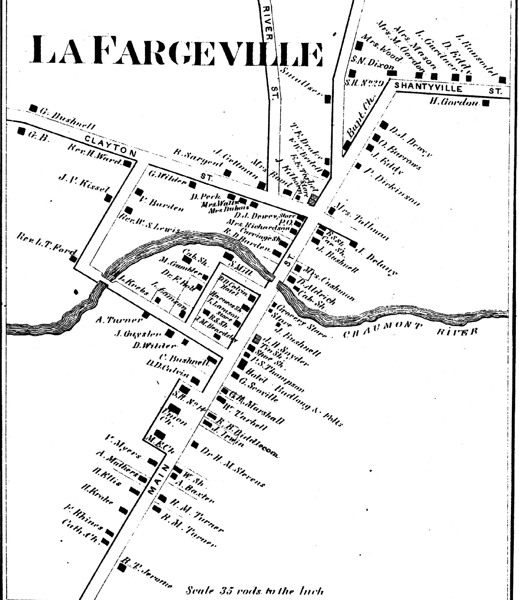 1864 mAP OF lAFARGEVILLE
