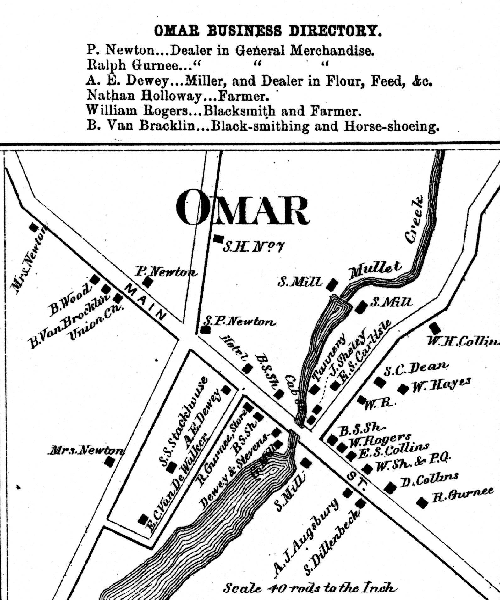 1864 Map of Omar