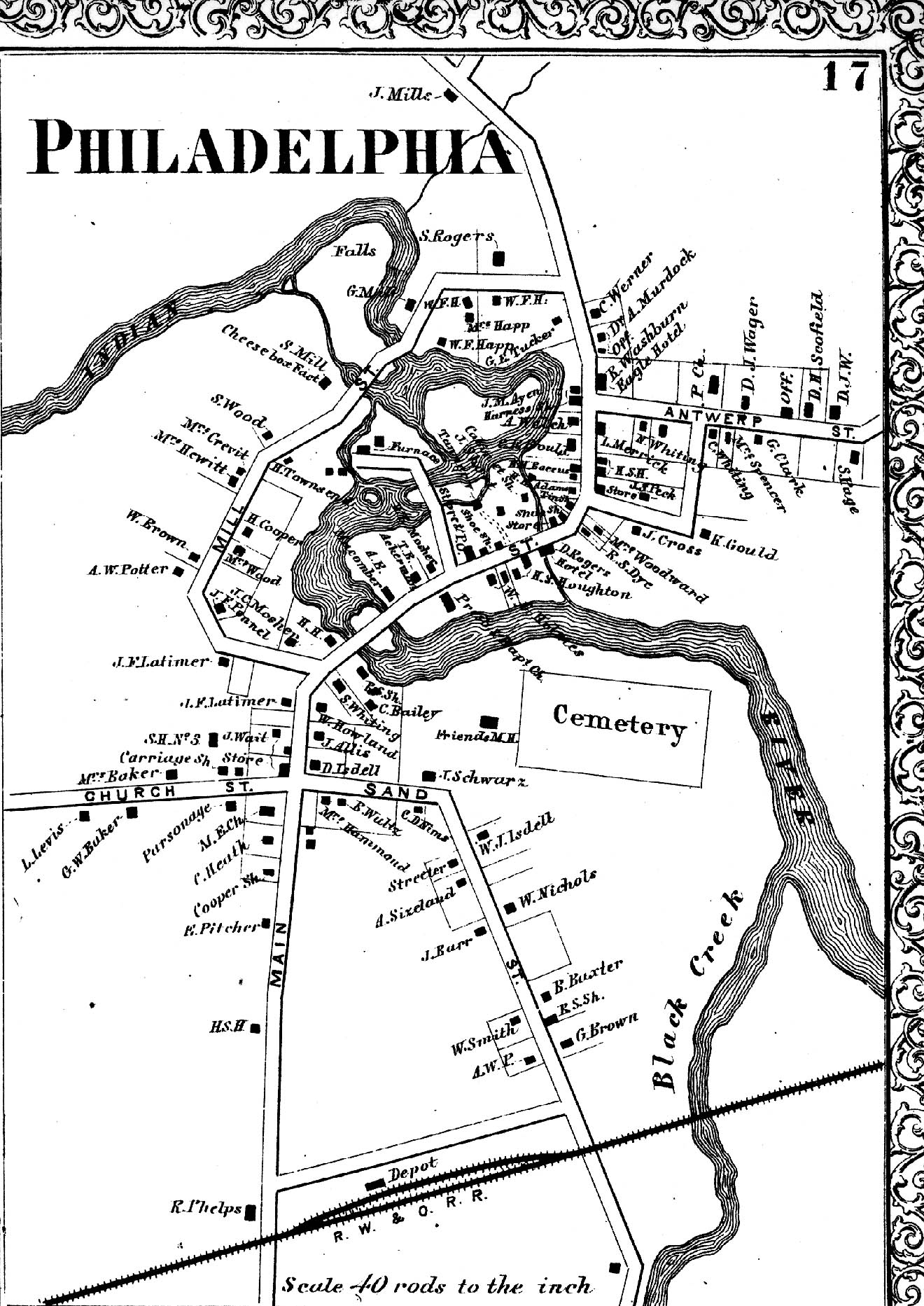 1864 Map of Philadelphia