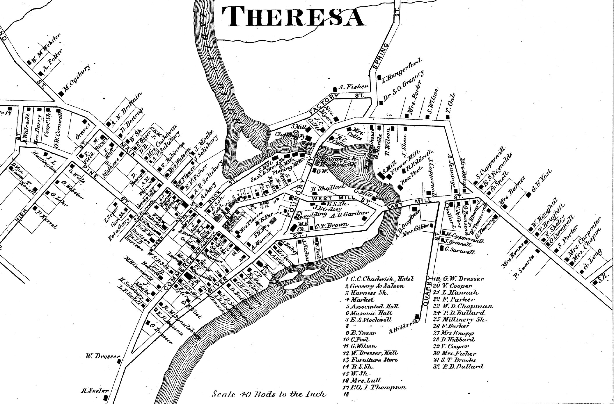 1864 Map of Theresa