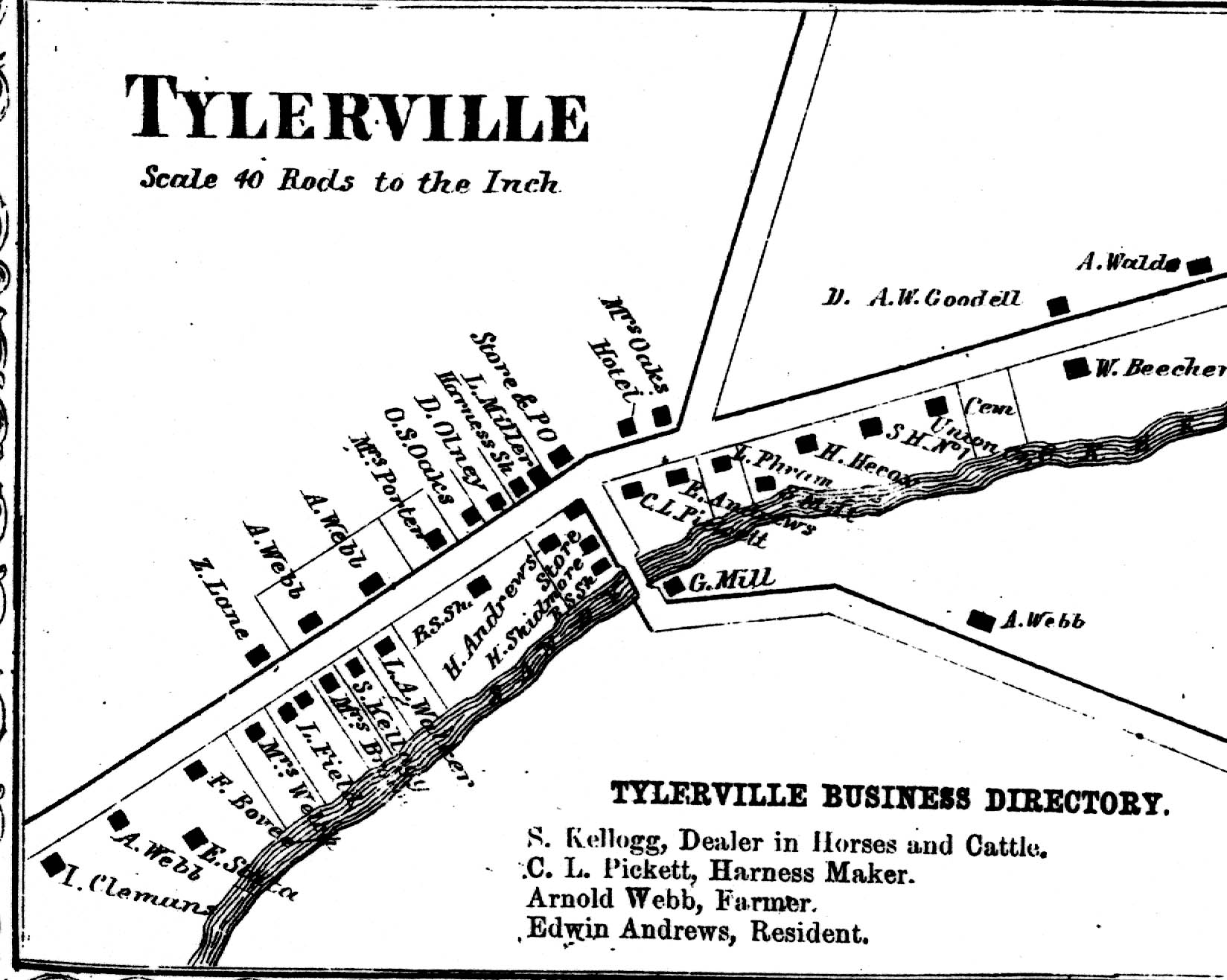 1864 Map of Tylerville