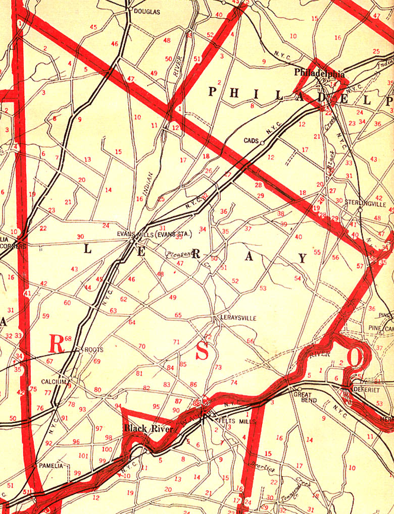 1918 Leray Farm Map