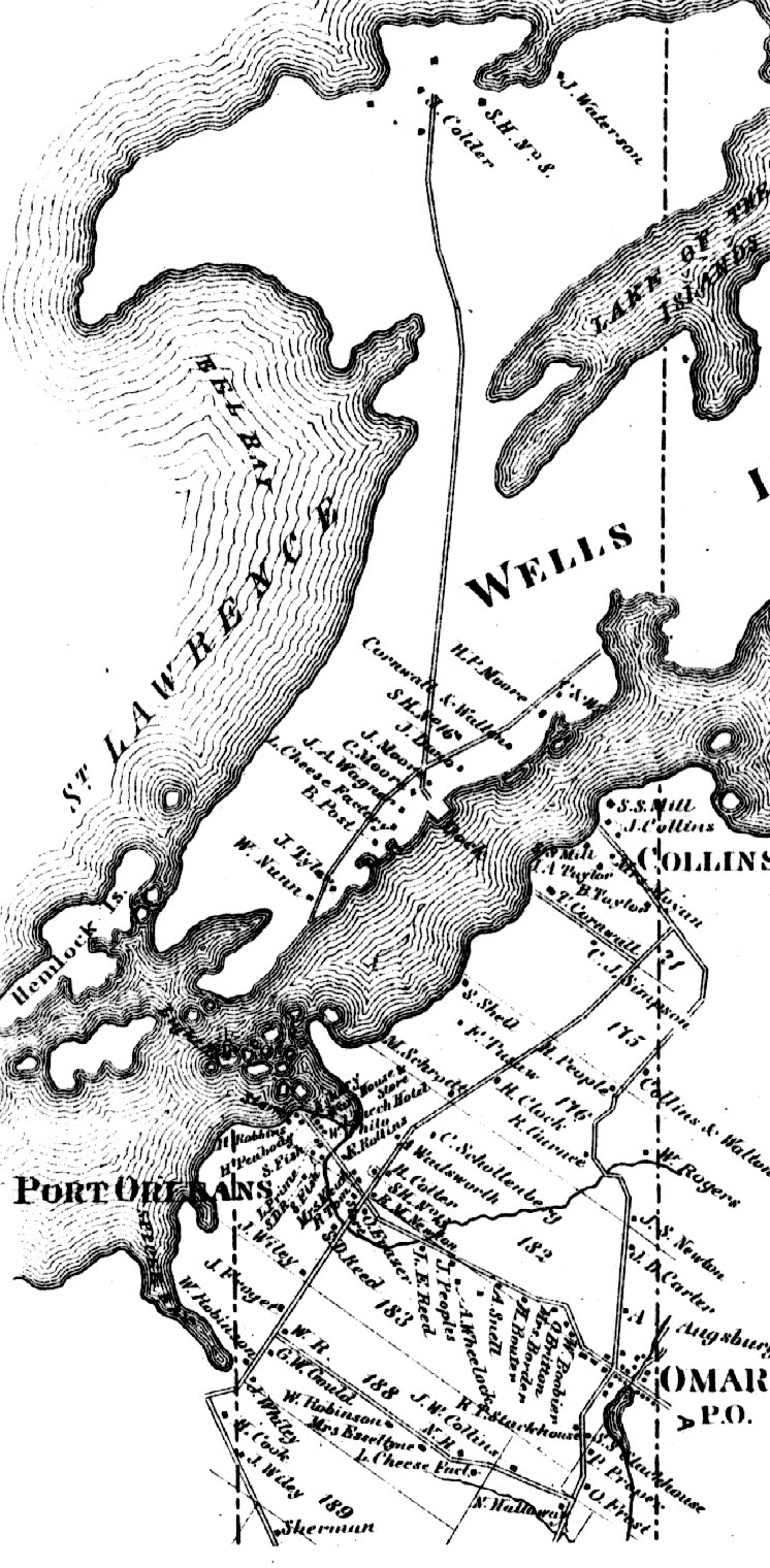 1864 Town of Orleans Map