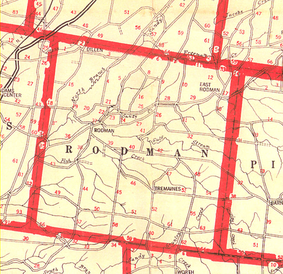 1918 Rodman Farm Map